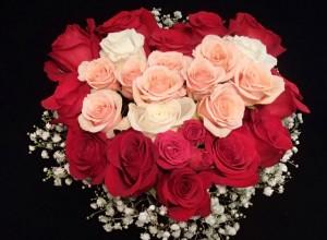 Fresh floral arrangements, Valentines Day
