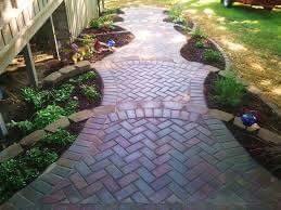 Custom stone brick walkway.