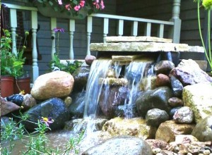 water fall, water feature