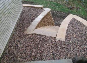 Retaining wall, Block wall, Grading, Stone